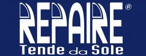 MARCHIO REGISTRATO bianco sfondo blu tende repaire Ascoli Piceno AP